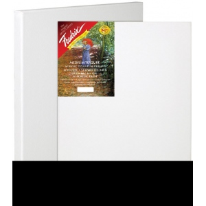 "Fredrix® Artist Series Red Label 6"" x 9"" Stretched Canvas: White/Ivory, Sheet, 6"" x 9"", 11/16"" x 1 9/16"", Stretched"
