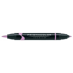 Prismacolor® Premier Art Brush Marker Clay Rose: Red/Pink, Double-Ended, Alcohol-Based, Dye-Based, Brush Nib, Fine Nib, (model PB137), price per each