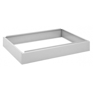 "Safco® White 6"" Closed Base: Black/Gray, Steel, 29 3/8""d x 40 3/8""w x 20""h, (model 4999W), price per each"