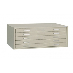 "Mayline® 5-Drawer C-File Sand: 1000 Sheets, Brown, Steel, 5-Drawer, 41 3/8""d x 53 3/4""w x 15 3/8""h, (model 7869CS), price per each"