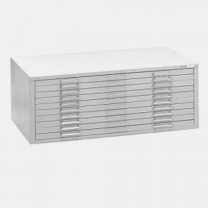 "Mayline® 10-Drawer C-File White: 1000 Sheets, White/Ivory, Steel, 10-Drawer, 28 3/8""d x 40 3/4""w x 15 3/8""h, (model 7977CW), price per each"