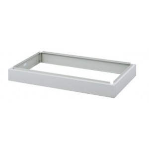 "Safco® Facil™ Closed Base for Medium Flat File: Black/Gray, Steel, 30""d x 46 1/4""w x 4 3/4""h, (model 4973), price per each"