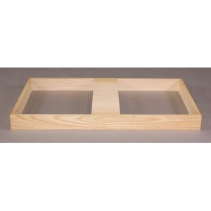 "SMI Natural Oak Finish Flat File Flush Base: 37 1/2"" x 51 3/4"" x 3 1/4"""