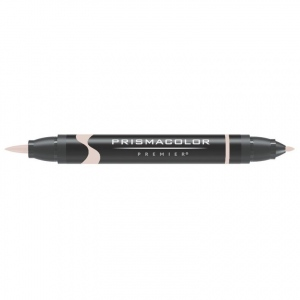 Prismacolor® Premier Brush Marker Almond Milk: White/Ivory, Double-Ended, Alcohol-Based, Dye-Based, Brush Nib, Fine Nib, (model PB024), price per each
