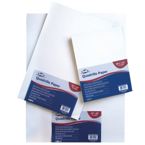"Alvin® Quadrille Paper 10x10 Grid 100-Sheet Pack 17"" x 22"": Pad, 10"" x 10"", 100 Sheets, 17"" x 20"", 20 lb, (model 1430-15), price per 100 Sheets"