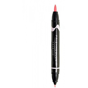 Prismacolor® Premier Brush Marker Deco Pink Light: Red/Pink, Double-Ended, Alcohol-Based, Dye-Based, Brush Nib, Fine Nib, (model PB233), price per each