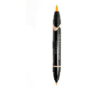 Prismacolor® Premier Brush Marker Deco Orange Light: Orange, Double-Ended, Alcohol-Based, Dye-Based, Brush Nib, Fine Nib, (model PB230), price per each