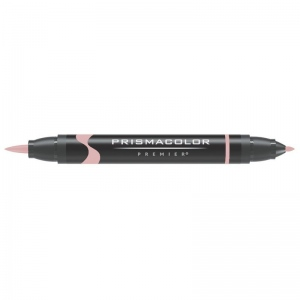 Prismacolor® Premier Brush Marker Dusty Rose: Red/Pink, Double-Ended, Alcohol-Based, Dye-Based, Brush Nib, Fine Nib, (model PB136), price per each