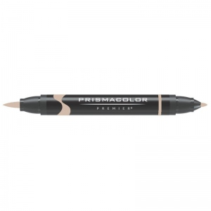 Prismacolor® Premier Brush Marker Light Umber 50%: Brown, Double-Ended, Alcohol-Based, Dye-Based, Brush Nib, Fine Nib, (model PB274), price per each