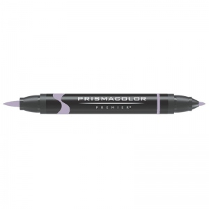 Prismacolor® Premier Brush Marker Lilac Light: Purple, Double-Ended, Alcohol-Based, Dye-Based, Brush Nib, Fine Nib, (model PB173), price per each