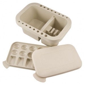 "Heritage Arts™ Plastic Brush Washer: White/Ivory, Plastic, 5 3/4""l x 8 7/8""w x 3 3/4""h, Brush Washer, (model BWX2), price per each"