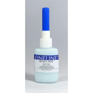Fineline Resist Pen - Masking Fluid Pen With Dispensing Applicator: 20 Gauge (0.5 mm) Stainless Tip, 1.25 Oz