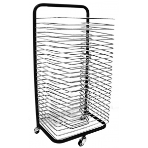 Inovart Mobile Floor Rack with Fixed Shelves