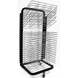 Inovart Mobile Floor Rack with Flip Shelves