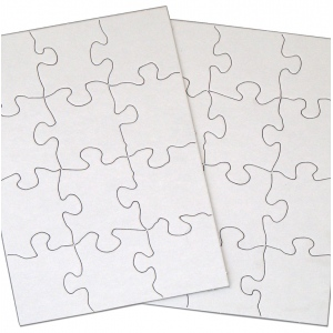 "Inovart Puzzle-It Blank Puzzles 12 Piece 8-1/2"" x 11"" - 12 Per Package"