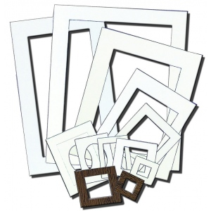 "Inovart Picture-It White Pre-Cut Art/Presentation Mat Frames - Fits Artwork 18"" x 24"" - 12 per pack"