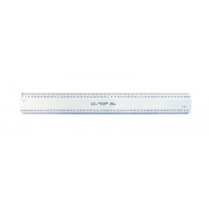 "Alvin® 280 Series Series 280 White Plastic Flat Scales: White/Ivory, Plastic, 12"", Architect, (model 280XP), price per each"