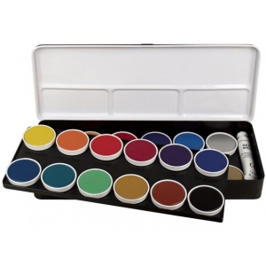 Finetec Watercolor Paint 24-Color Set: Multi, Pan, Watercolor, (model LO24), price per set