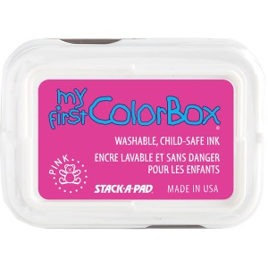 My First ColorBox® Washable Full Size Ink Pad Pink: Red/Pink, Pad, Dye-Based, Full Size Rectangle, (model CS68005), price per each