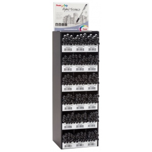 Pentel® Hybrid Technica™ Pen Tower Display: Black/Gray, Pigment, (model KN103456-216D), price per each