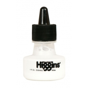 Higgins® Non-Waterproof Super White Ink: White/Ivory, Bottle, Dye-Based, 1 oz, (model SN44100), price per each