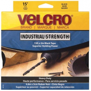"Velcro® Sticky Back™ Industrial Strength Tape: Black/Gray, 2"" x 15', (model V90197), price per each"