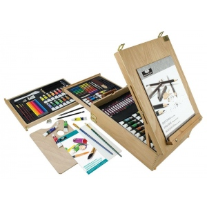 Royal & Langnickel® All Media Easel Artist Set: Multi, Acrylic, Oil, Watercolor, (model REA6150), price per set