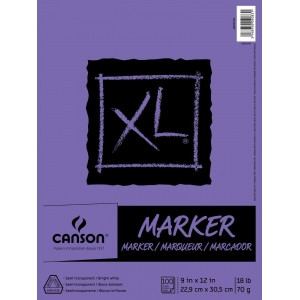"Canson 9"" x 12"" Marker Pad (Fold Over)"