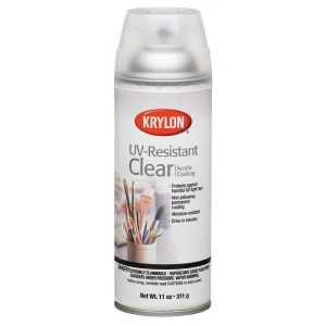 Krylon® UV-Resistant Clear Gloss Spray: Gloss, Varnish & Specialty, (model K1305), price per each