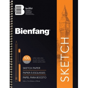 "Bienfang® Take Me Along™ 5 1/2"" x 8 1/2"" Sketch Book: Book, 100 Sheets, 5 1/2"" x 8 1/2"", Medium, 50 lb"