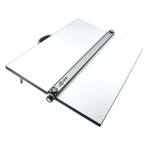 "Alvin® PXB Series Portable Parallel Straightedge Board 18"" x 24"": White/Ivory, 18"" x 24"", Melamine, Drawing Board"