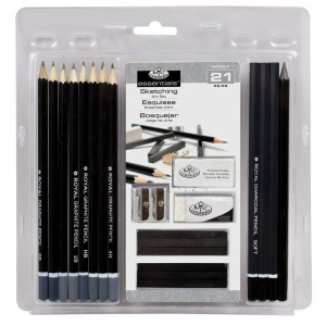 Royal & Langnickel® Essentials™ Sketching Set: Black/Gray, (model RART-200), price per set