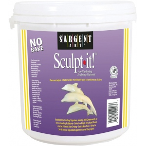 Sargent Art® Sculp-It!® 10 lb. Air-Hardening Sculpting Material: White/Ivory, Tub, 2 lb, Air Dry, (model 222003), price per each