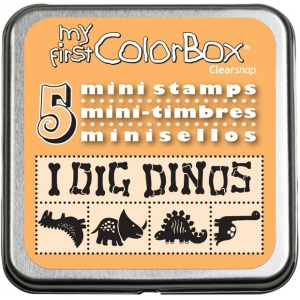 My First ColorBox® Mini Stamp Set Dinos: Foam, No
