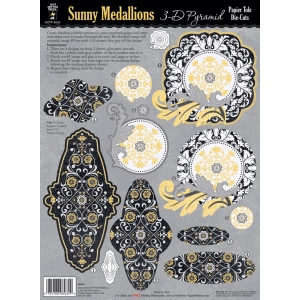 "Hot Off the Press 3-D Papier Tole Die Cuts Sunny Medallions: Multi, 8 1/2"" x 11"", Dimensional"