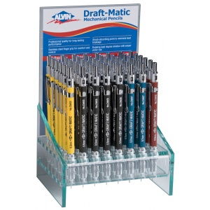 Alvin® Draft-Matic Mechanical Pencil Display: Black/Gray, Multi, Mechanical, (model DM65D), price per each