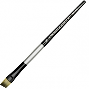 Dynasty® Black Silver® Blended Synthetic Watercolor Brush Angular 1/2: Short Handle, Bristle, Angular, Watercolor