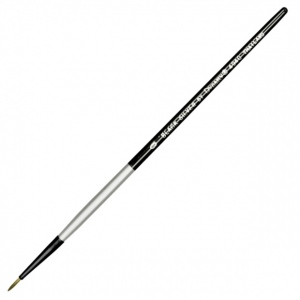 Dynasty® Black Silver® Blended Synthetic Watercolor Brush Liner 0: Short Handle, Bristle, Liner, Watercolor, (model FM32817), price per each