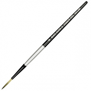 Dynasty® Black Silver® Blended Synthetic Watercolor Brush Long Liner 4: Short Handle, Bristle, Liner, Watercolor