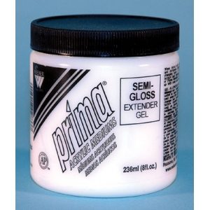 Prima Acrylic Gel Mediums - Semi-Gloss: 236ml, Jar