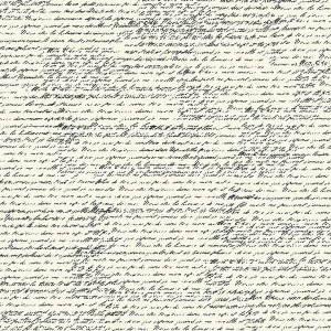 "Canvas Corp Black & Ivory Paper: French Script, 12"" x 12"""