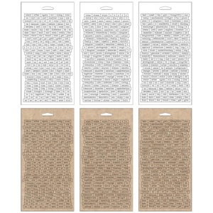 Advantus Tim Holtz Ideaology Chitchat Word Stickers