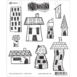 Ranger Dyan Reaveley Dylusions Stamp Set: Right Up Your Street