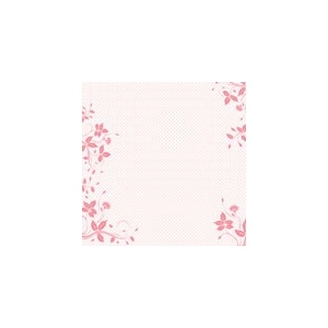 "Making Memories Slice Papers: Acetate Pink Border, 12"" x 12"""