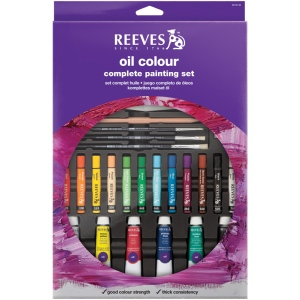 Reeves™ Complete Oil Color Painting Set: Multi, Tube, 10 ml, Oil, (model 8310143), price per set