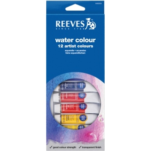 Reeves™ 10ml Watercolor Paint 12-Color Set: Multi, Tube, 10 ml, Watercolor, (model 8494250), price per set