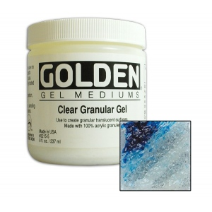 Golden Acrylic Gels: Clear Granular, 8 Ounces