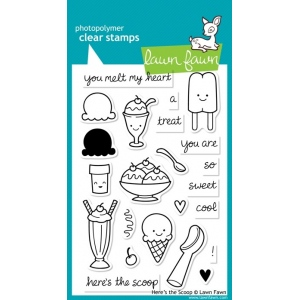 Lawn Fawn Heres the Scoop Stamp Set