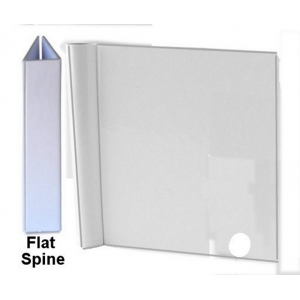 "Zutter Flat Spine Cover-Alls for 1"" Owires: 7.5"" x 5"", White, Flat"