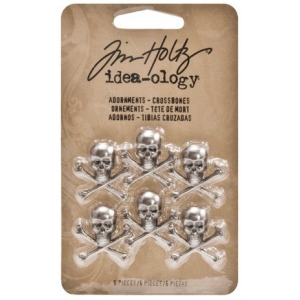 Advantus Tim Holtz Ideaology Adornments: Crossbones